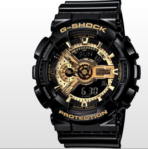 Coolest Watch, Casio G-Shock Black and Gold GA110GB-1A