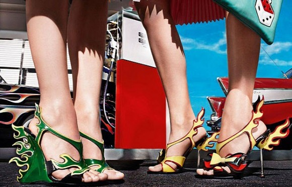 Prada Releases 1950s Cadillac and Hot Rod-Inspired Shoe Collection