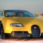 Unique Bright-Yellow Veyron Grand Sport
