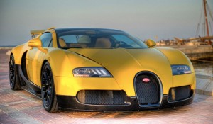 Unique Bright-Yellow Veyron Grand Sport