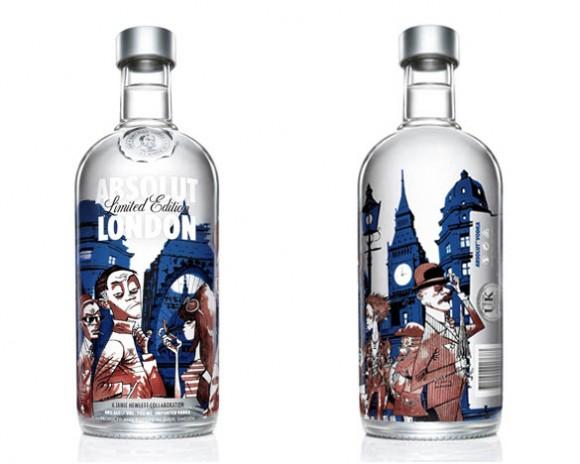 Jamie Hewlett Absolut London Edition Art Bottle