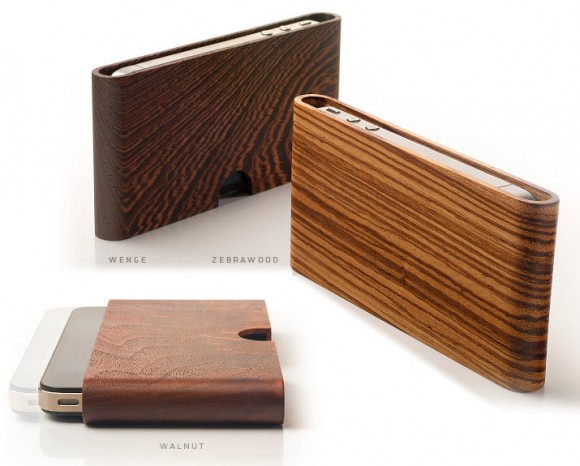 Miniot Wood Pouch for iPhone 4 and 4s