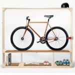 Shoes Books and a Bike Shelves