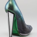 Yves Saint Laurent Snakeskin Mirror-Heeled Pump_2